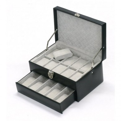 Coffret 15 montres - cuir