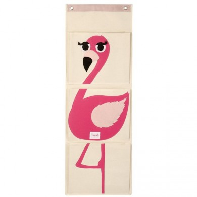 Vide poche mural Flamand rose