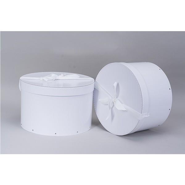 boite chapeau en carton blanche x2 thisga. Black Bedroom Furniture Sets. Home Design Ideas