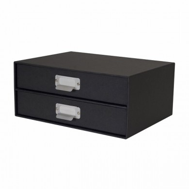 boite de rangement organiseur de bureau a4 2 tiroirs. Black Bedroom Furniture Sets. Home Design Ideas