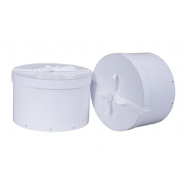 boite  chapeau en carton blanche  thisga